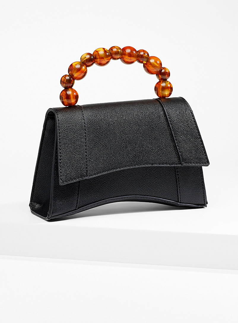 Amber bead ladylike bag