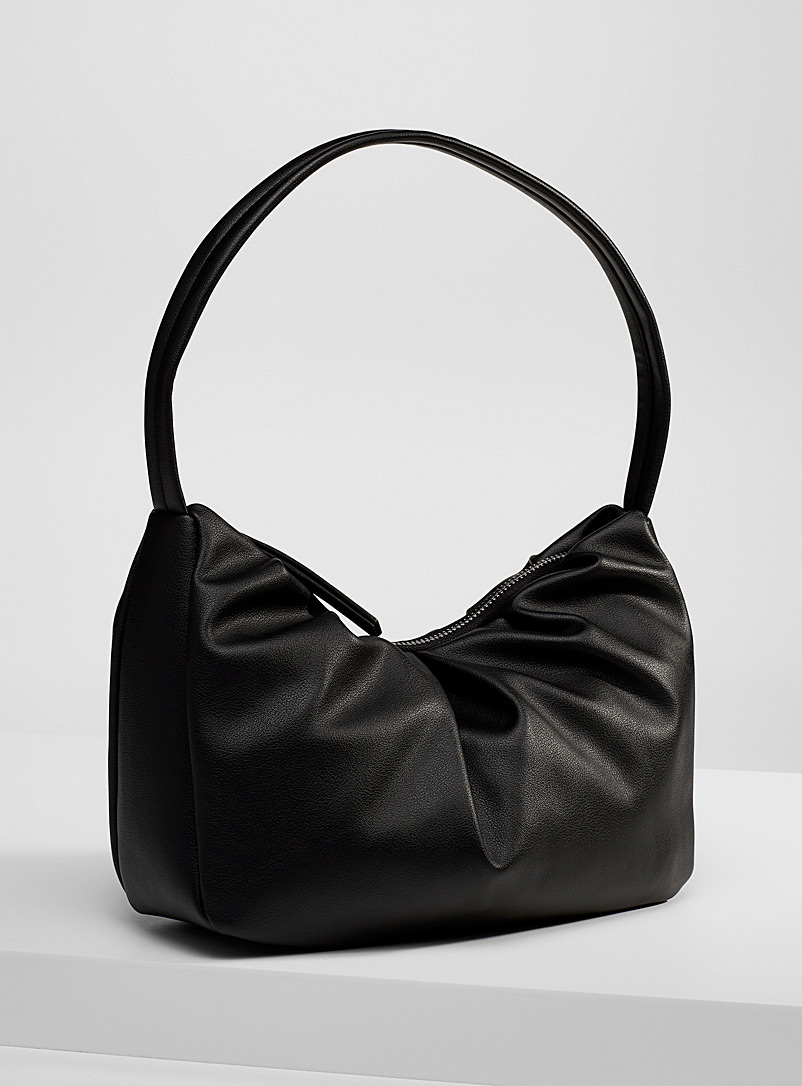 Simons Black Faux-leather gathered bag for women