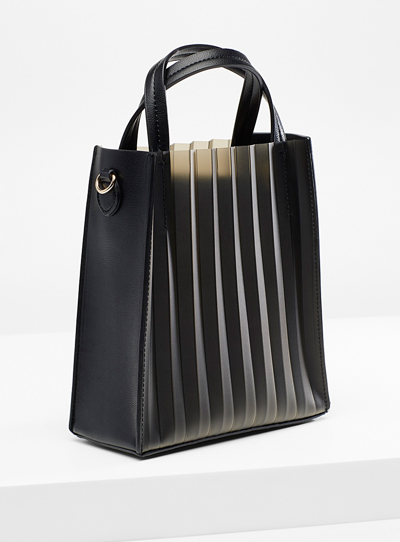 Simons Black Mini accordion bag for women