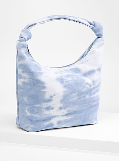 Street Level Patterned Blue Tie-dye tote for women
