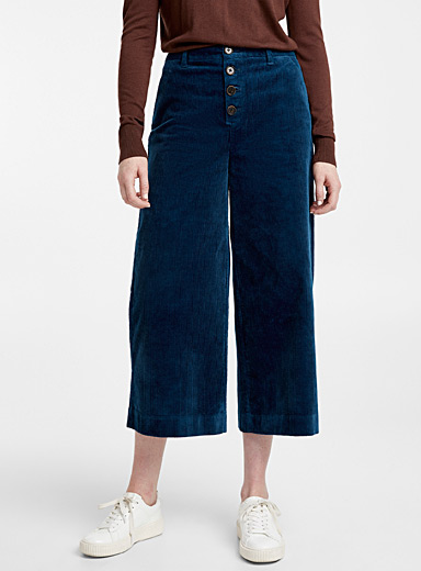 Corduroy buttoned culottes