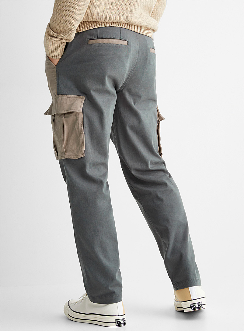 Le 31 Assorted Block cargo pant Straight, slim fit for men