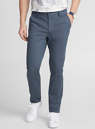 Stretch optical weft pant  London fit - Slim straight
