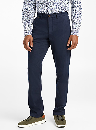Contrasting piqué pant  London fit-Slim straight