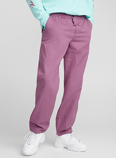 Colourful elastic-waist pant