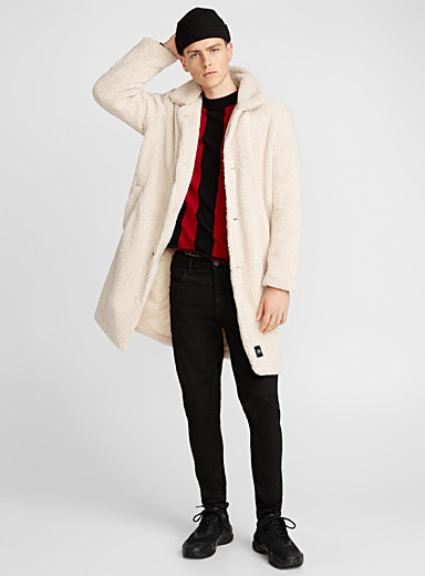 Le manteau long sherpa