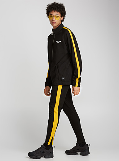 Yellow-band athletic sweatshirt