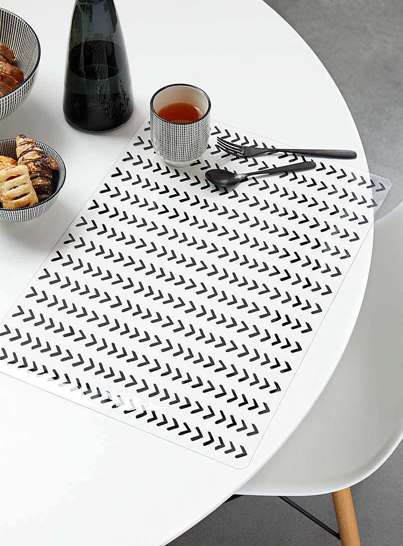 Simons Maison Assorted Sheer herringbone vinyl placemat
