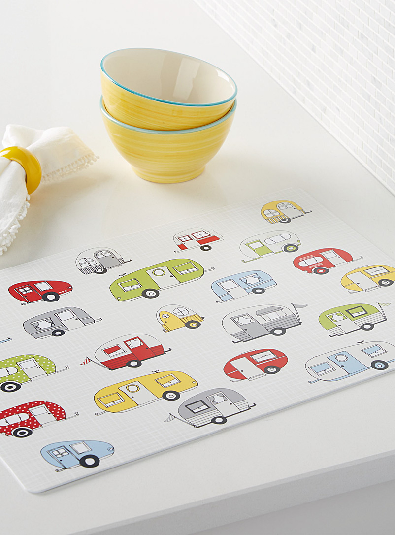 Caravan parade vinyl place mat - Vinyl - Assorted