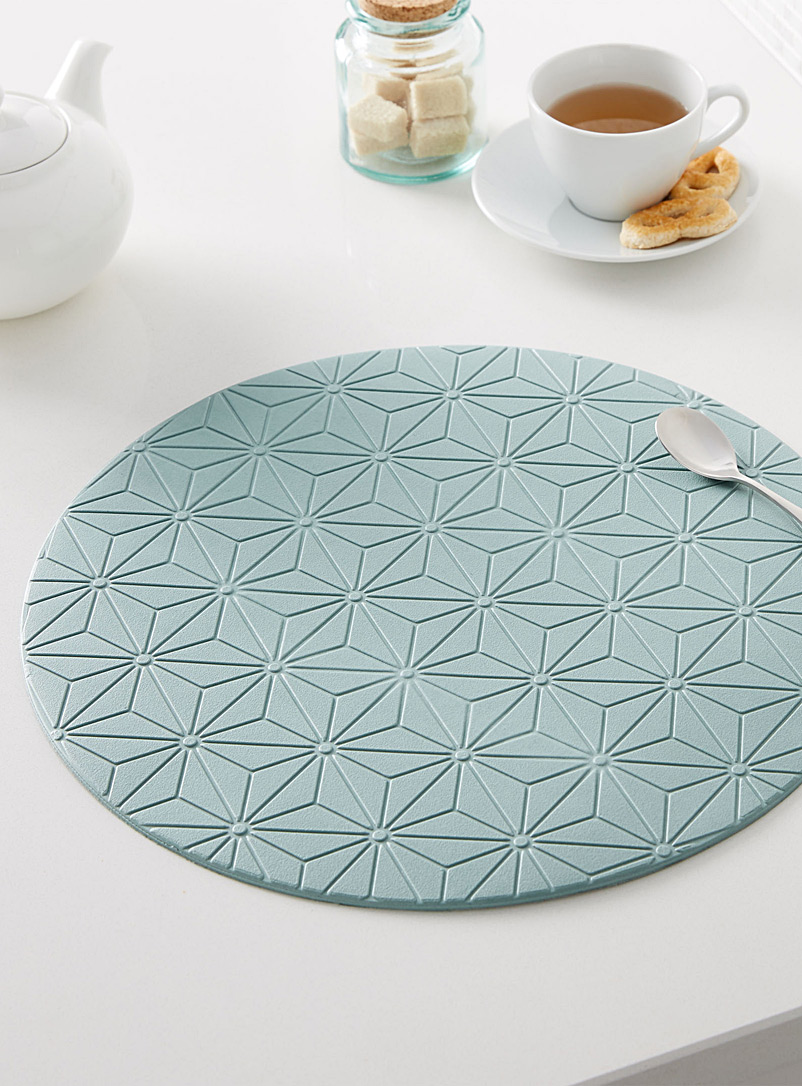 Etched mosaic place mat - Vinyl - Lime Green