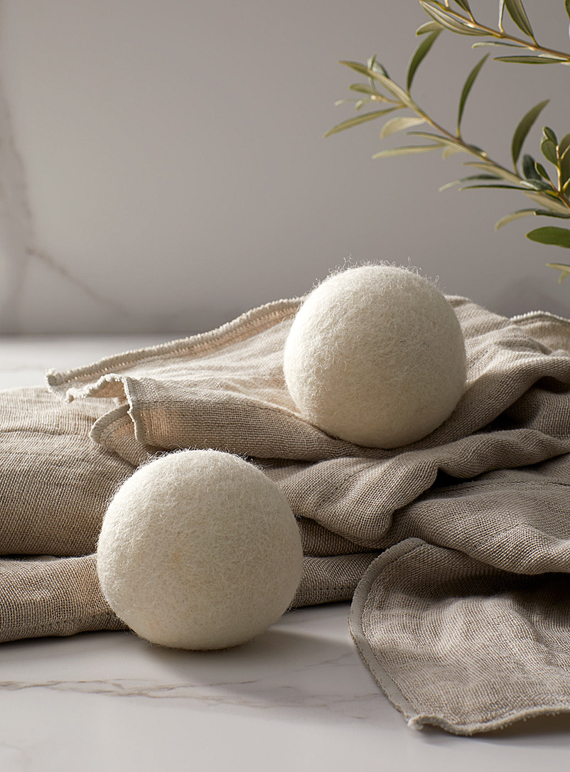 Simons Maison Ivory White Natural wool drying balls