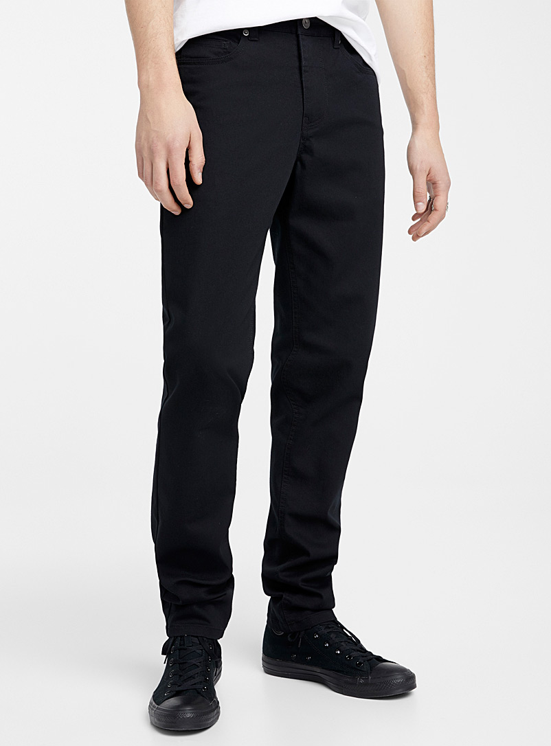 Djab Black 5-pocket stretch pant  Södermalm fit - Slim for men