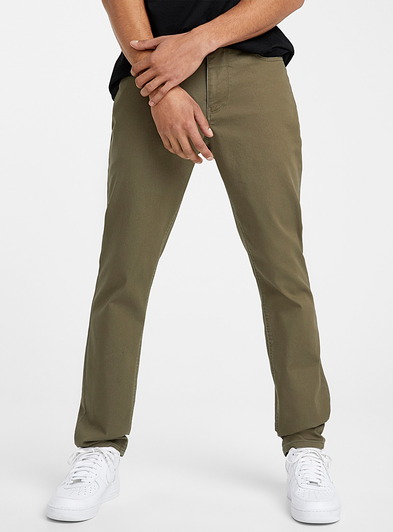Djab Mossy Green 5-pocket stretch pant  Södermalm fit - Slim for men