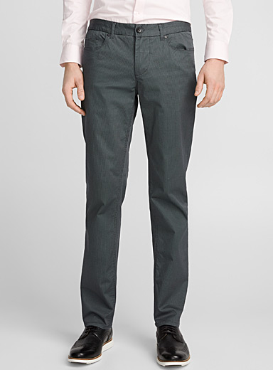 Optical weave pant <br>London fit - Slim straight