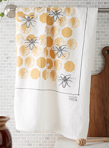 Urban beehive flour sack tea towel