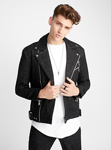 Black Granite denim rider jacket