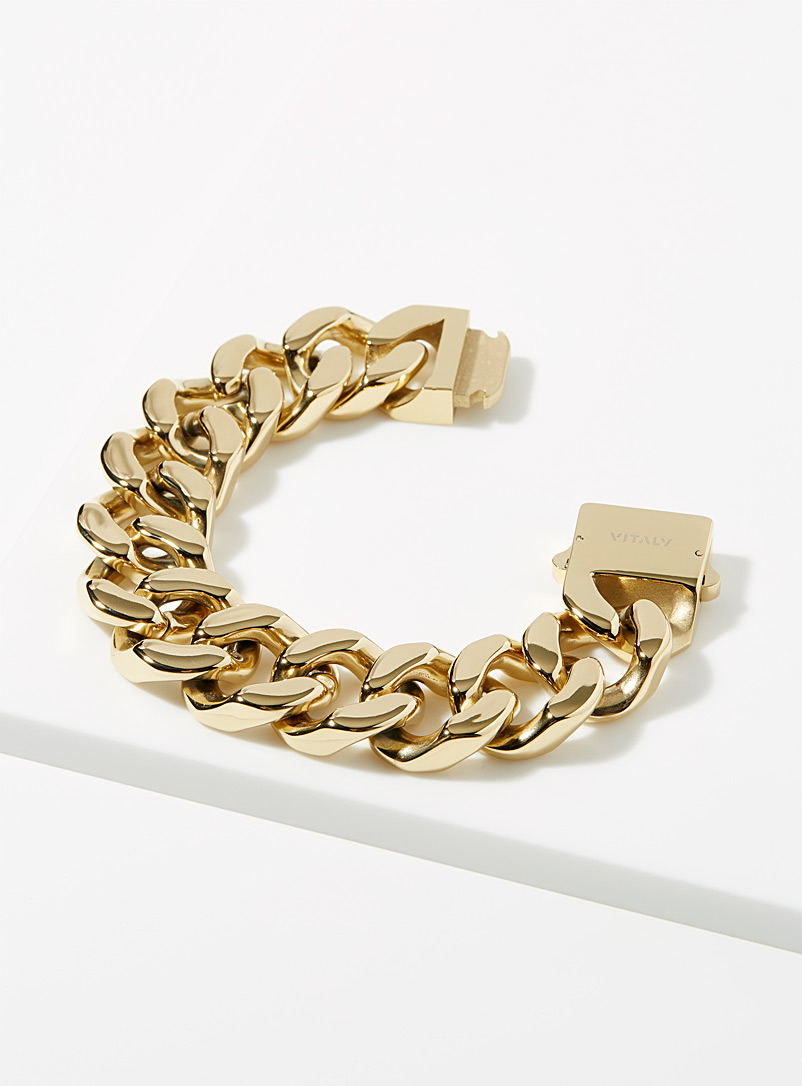 Vitaly Golden Yellow Integer chain bracelet for men