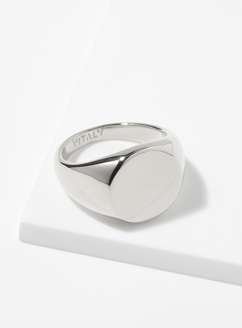 Vitaly Silver Rey signet ring for men