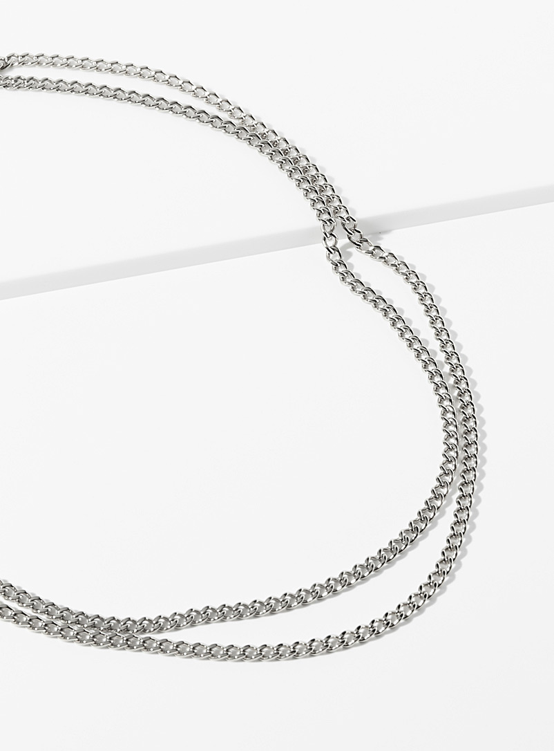 Vitaly Silver Kabel chain necklace for men