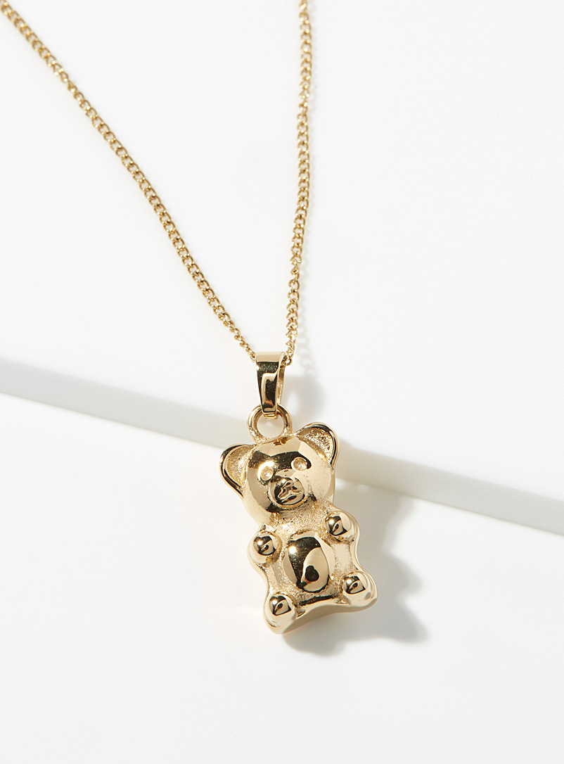 Vitaly Golden Yellow Gummybear chain necklace for men