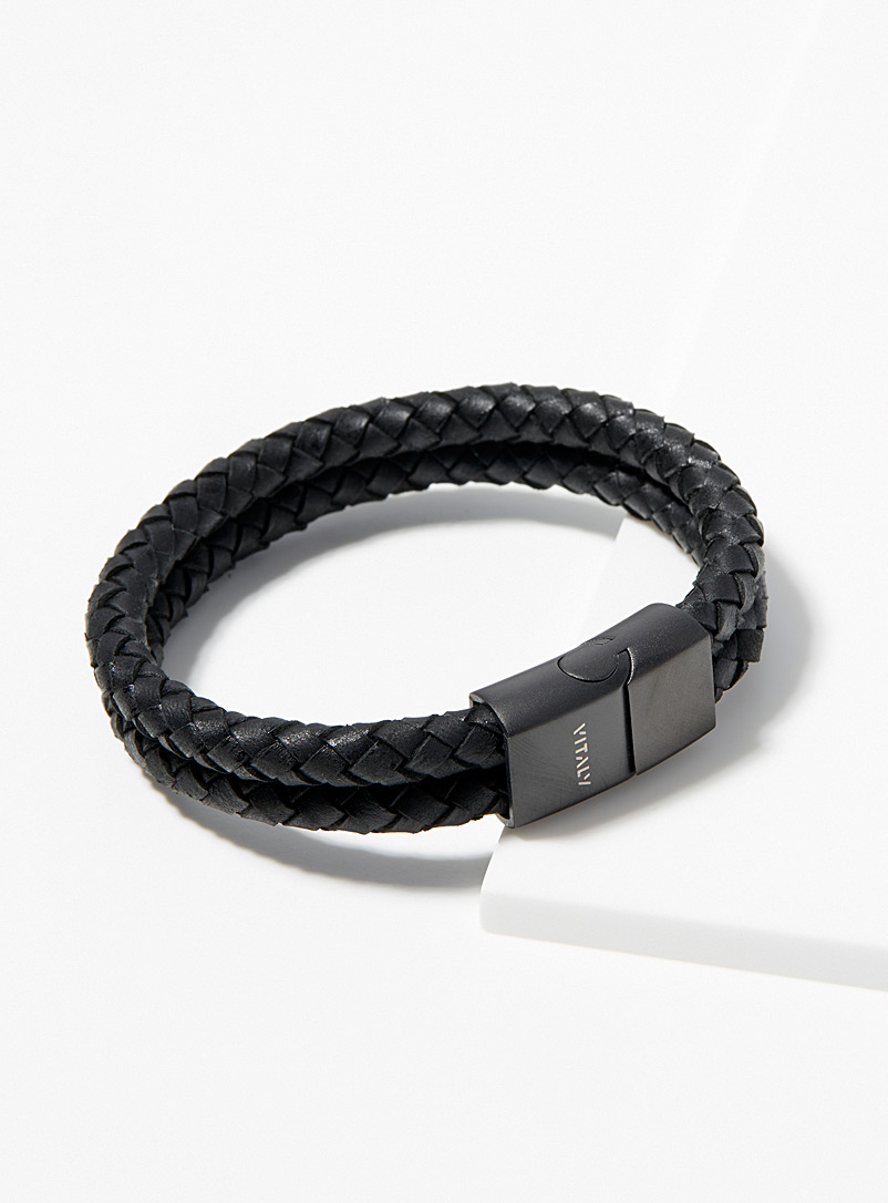 Vitaly Black Dubbel doubled-look bracelet for men