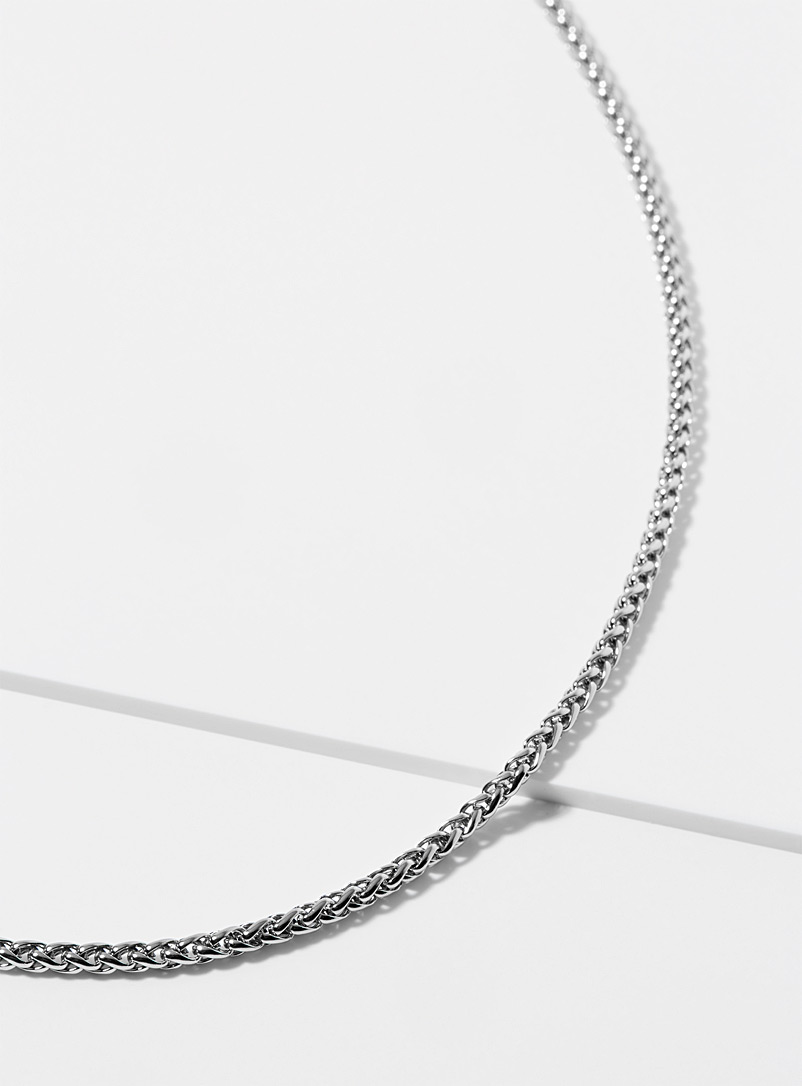 Vitaly Silver Palm tree chain necklace for men