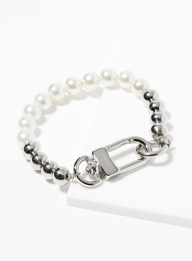 Vitaly Silver Keshi bracelet for men
