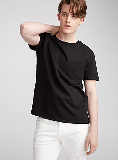 Crossed collar T-shirt