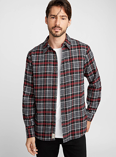 Rustic check shirt  Semi-tailored fit