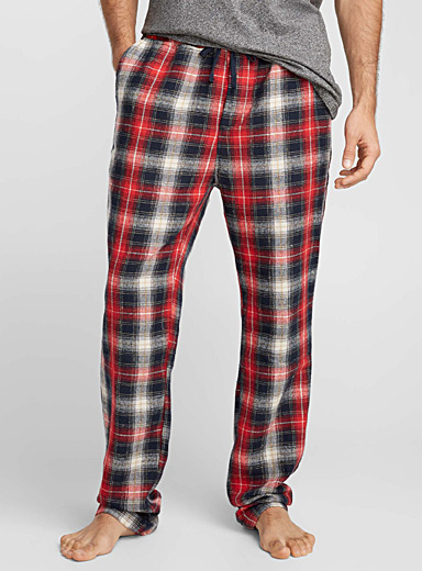 Workwear plaid lounge pant