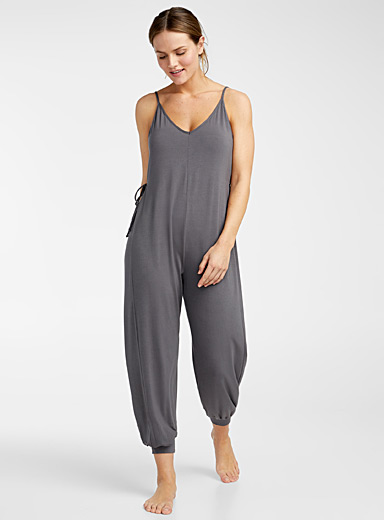 Eberjey Charcoal Finley jumpsuit for women