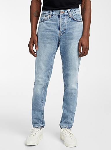 Nudie Jeans: Le jean Steady Eddie II blanchi  Coupe droite Bleu pour homme