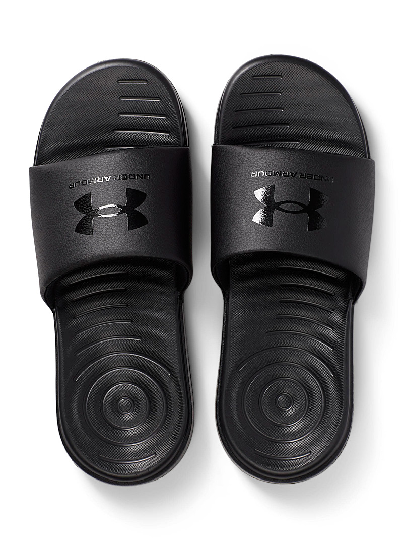 Under Armour Black Ansa Fix slides  Men for men