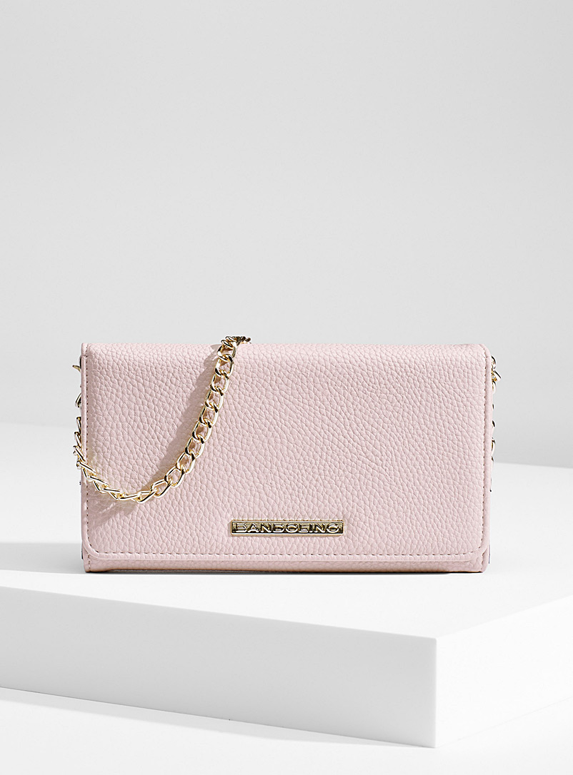 Simons Pink Gold chain wallet for women