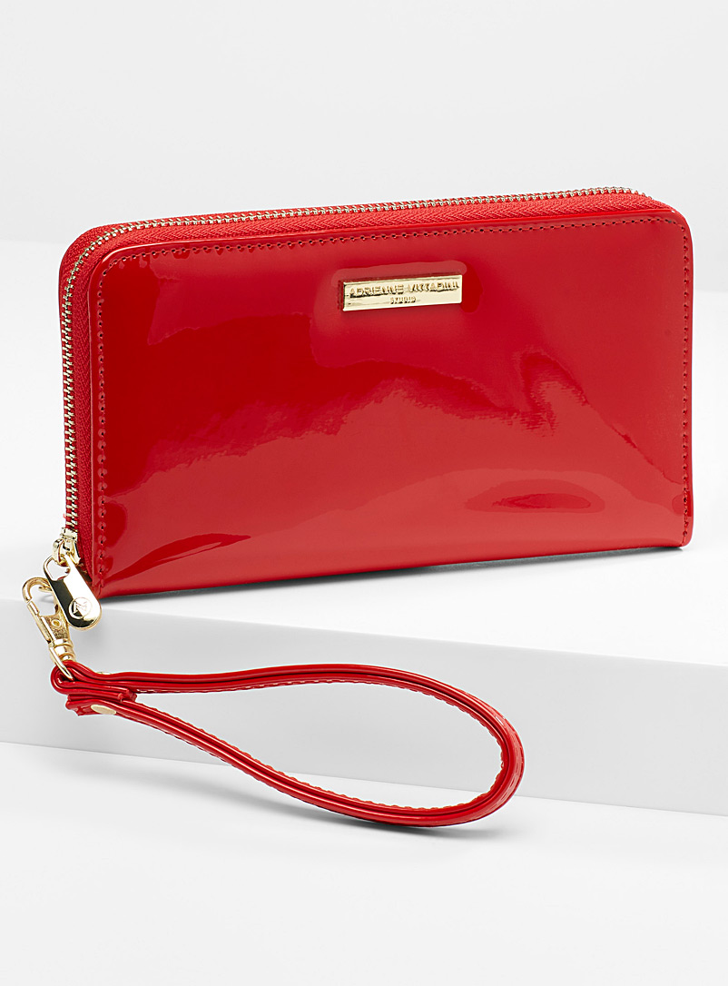 Textured wristlet wallet - Wallets - Red