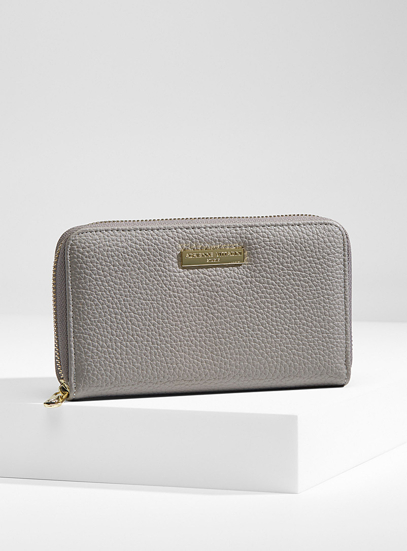 Adrienne Vittadini Grey Casual wallet for women