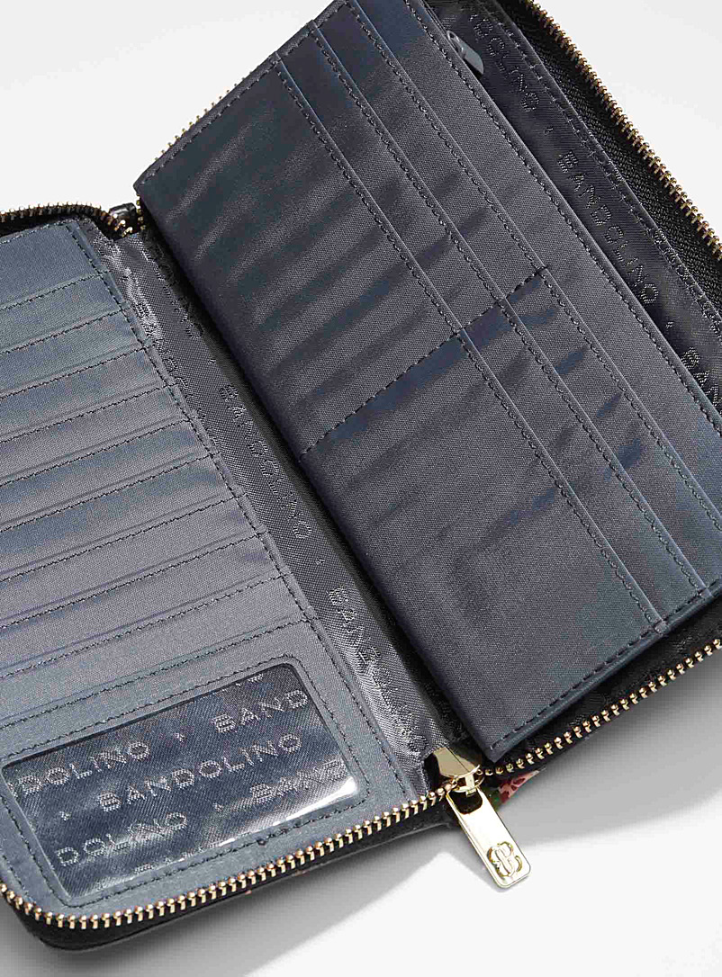 Bandolino Patterned Black Grained faux-leather wallet for women