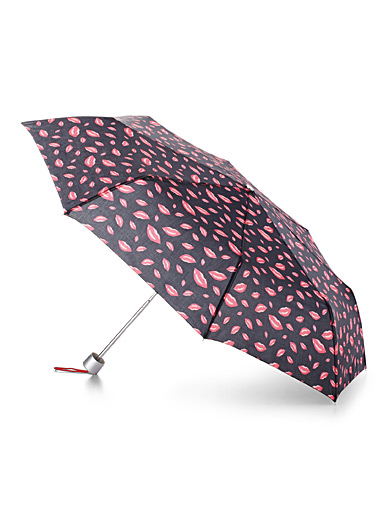 Patterned compact umbrella