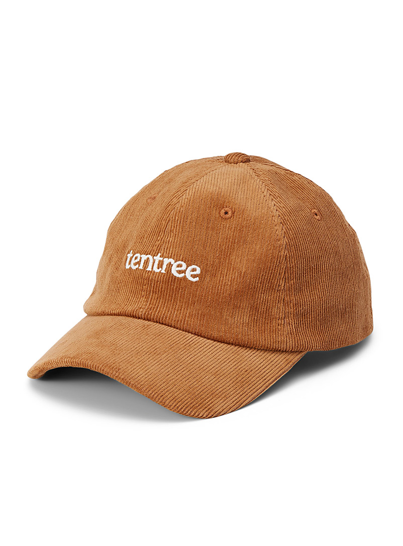 Tentree Fawn Embroidered logo corduroy cap for men
