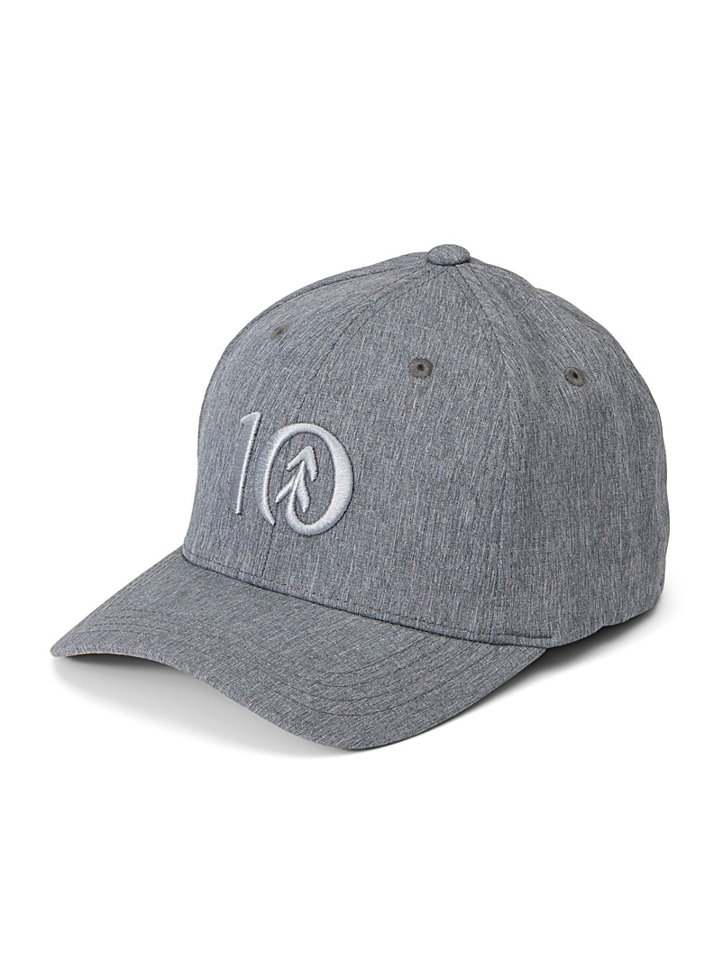 Tentree Grey Thicket chambray-logo cap for men