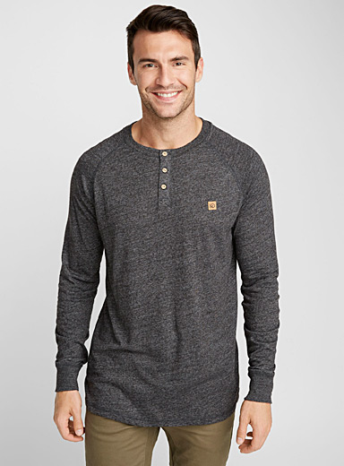 Boulder cork-accent Henley shirt