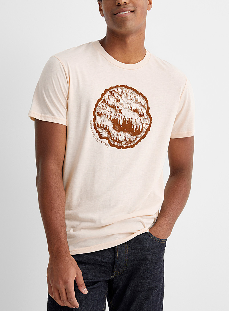 Tentree Ivory White Canada Day T-shirt for men