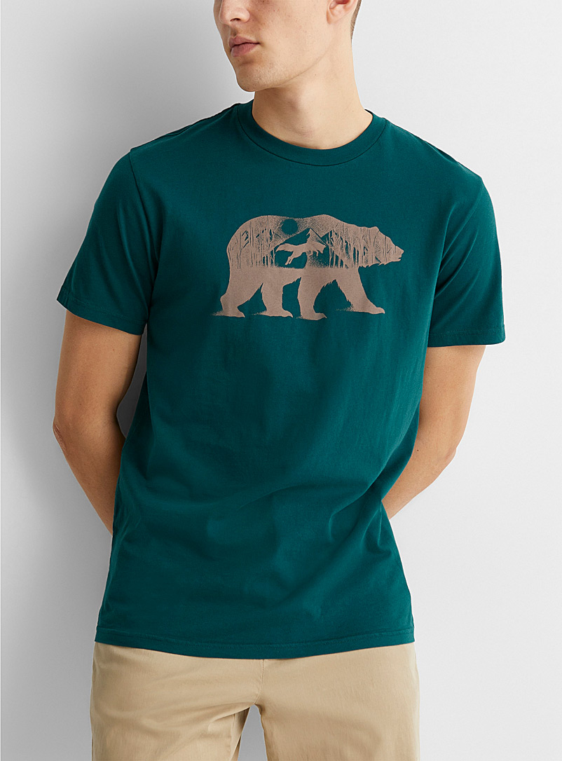 Tentree Teal Den T-shirt for men