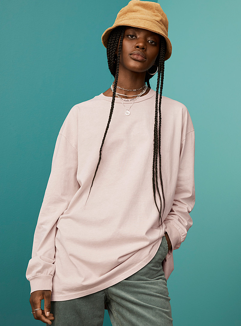 Twik Ivory White Faded long loose T-shirt for women