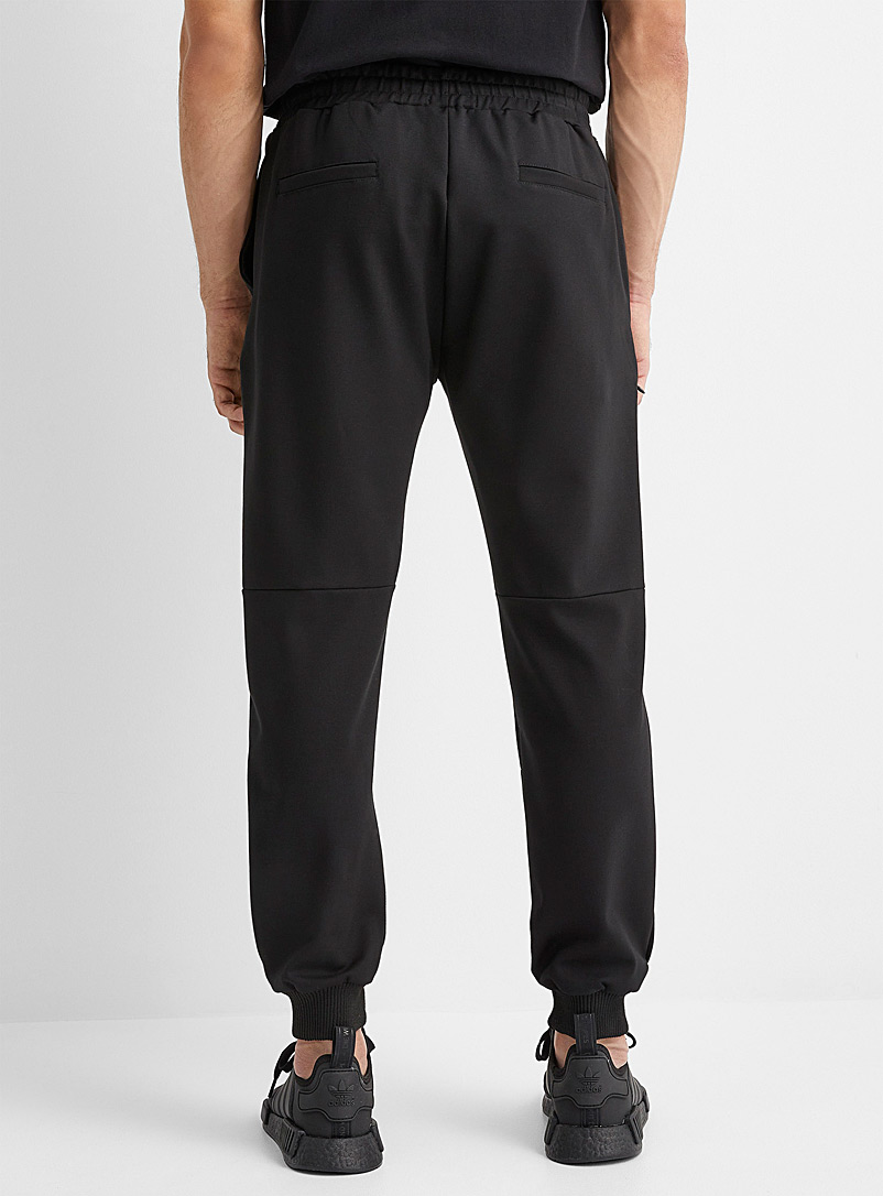Le 31 Black Structured jersey joggers for men