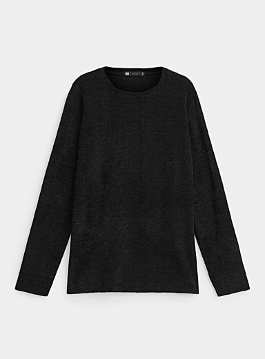 Embossed chenille-knit T-shirt