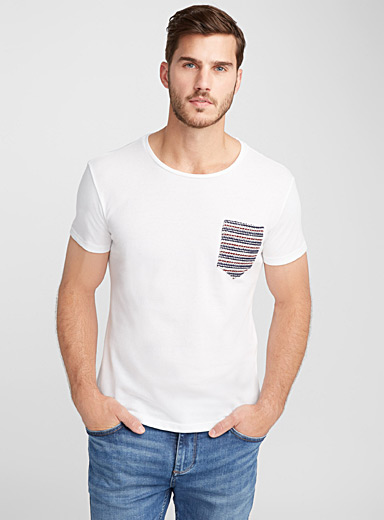 Textured pocket piqué T-shirt