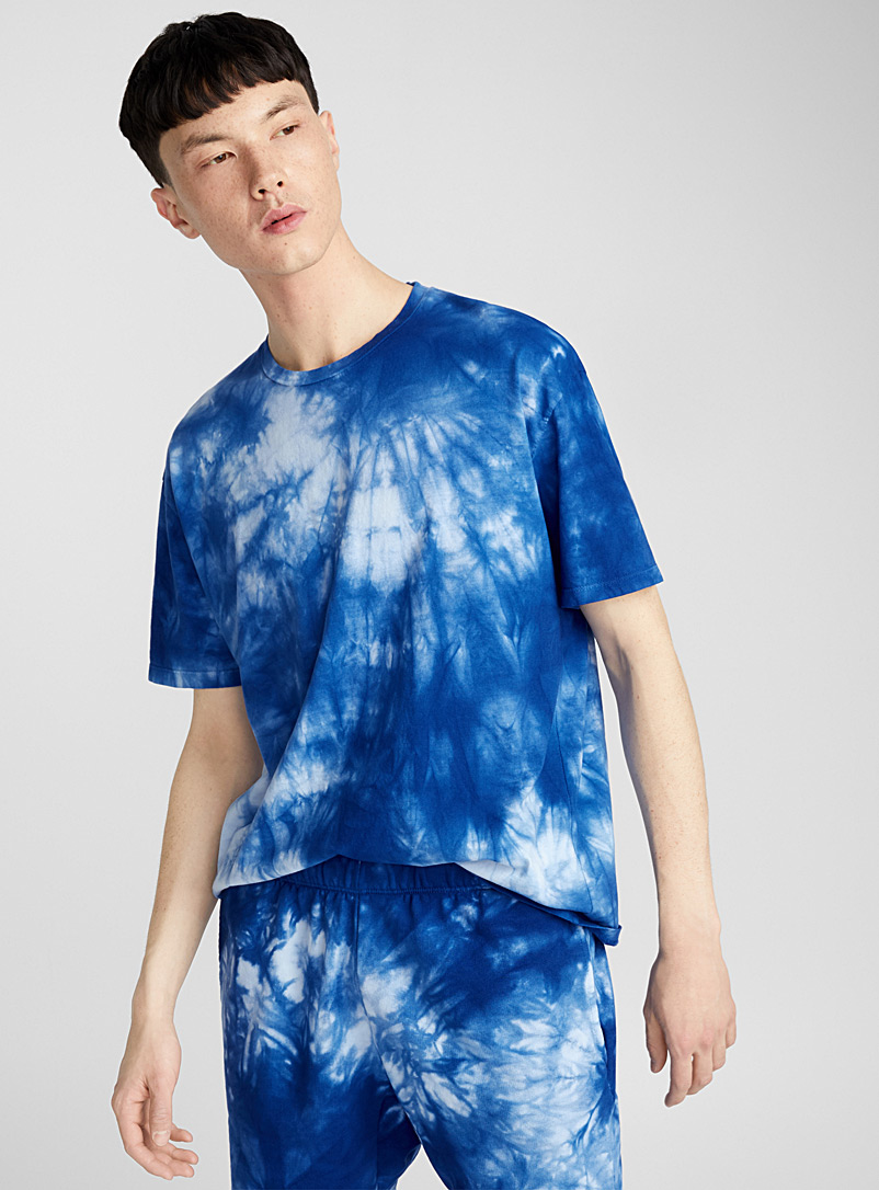 Tie-Dye faded T-shirt - Prints - Blue