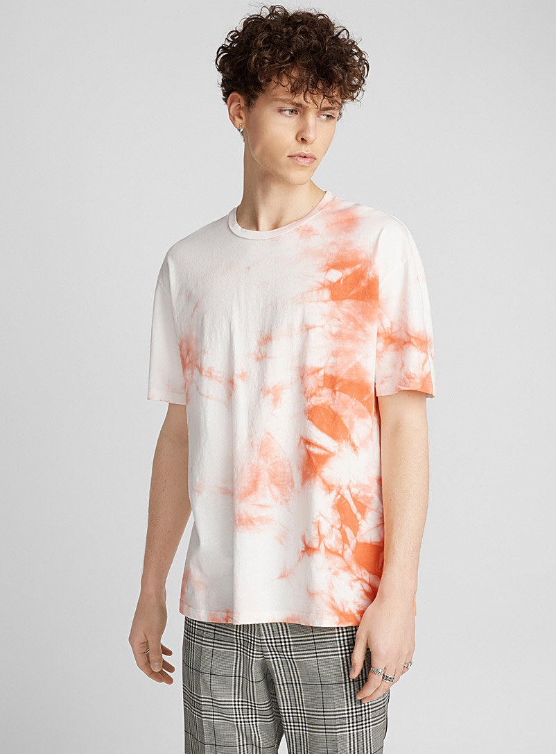 Tie-Dye faded T-shirt - Prints - Tangerine