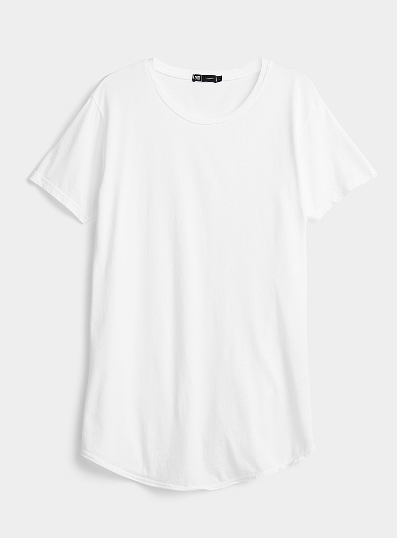 Le 31 White Scissor trim T-shirt for men